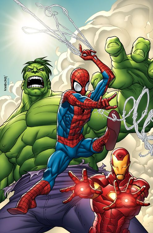spiderman hulk ironman by guru efx on deviantart