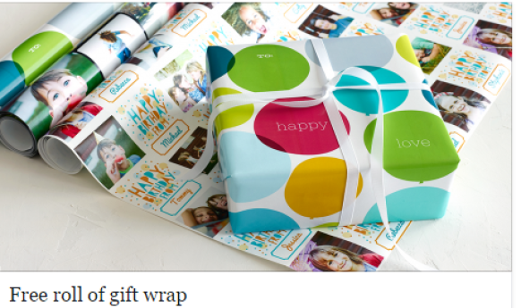 Free personalized gift wrap just pay shipping