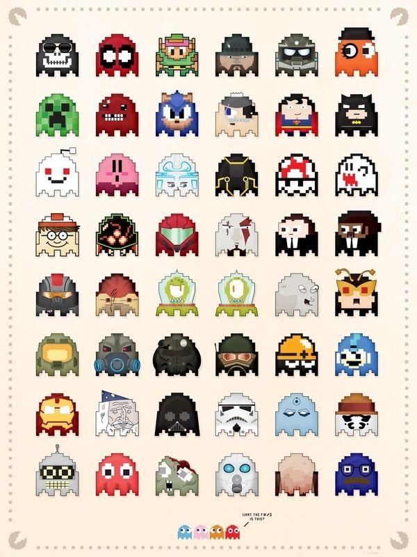 new concept 49a79 fe04a Pac Man, Pixel Art, Bric À Brac, Creeper Minecraft, Graphic Design