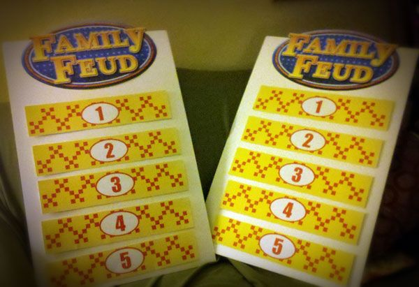 Survey Says: Making a Family Feud Game Board | Family feud game ...