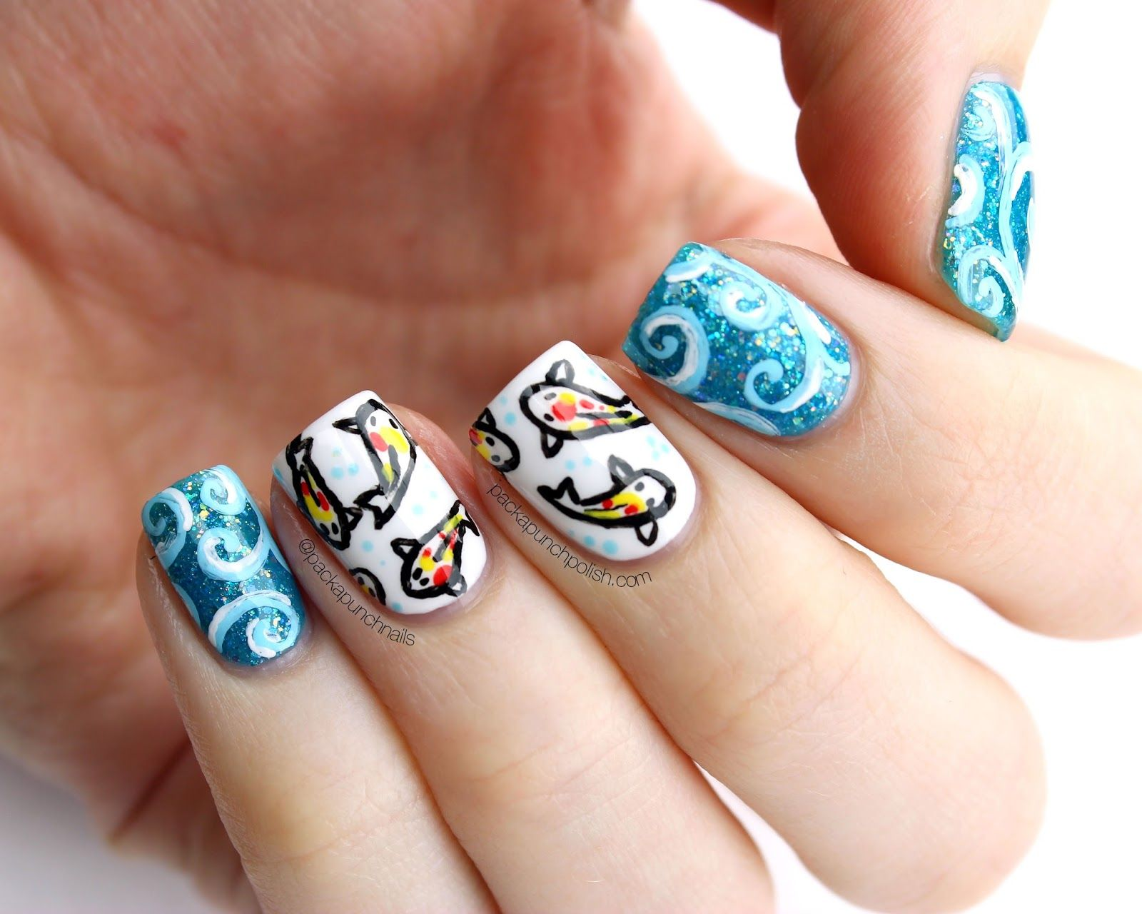 PackAPunchPolish: Koi Fish Nail Art with Video Tutorial | My Nail ...