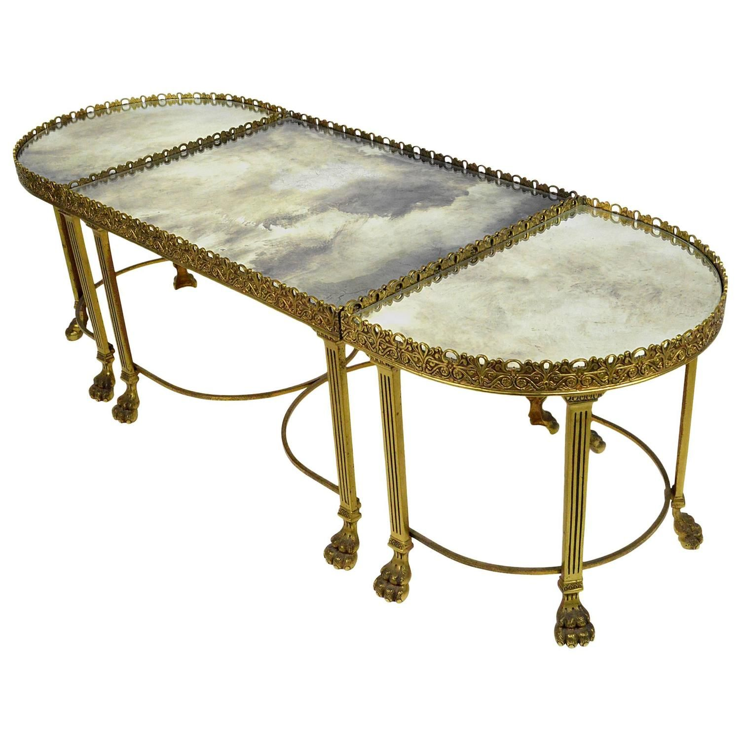 Neoclassical Style Bronze Three Part Coffee Table 1stdibs Com Coffee Table Vintage Table Lamp Furniture [ 1500 x 1500 Pixel ]