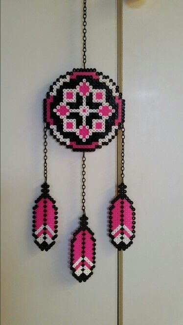 Dreamcatcher hama pearlbeads my work pinterest for Dreamcatcher beads meaning