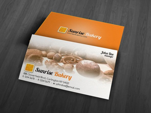 Free Modern Bakery Business Card Template Bakery Business Cards Templates Free Business Card Templates Bakery Business Cards