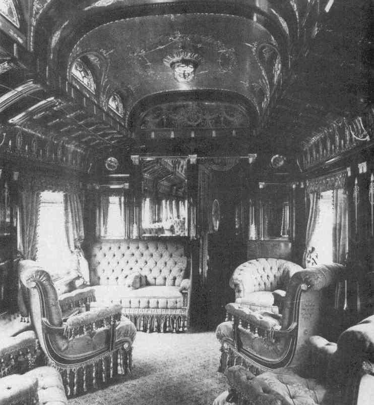 Gilded Age Train Sleeping Car Compartment