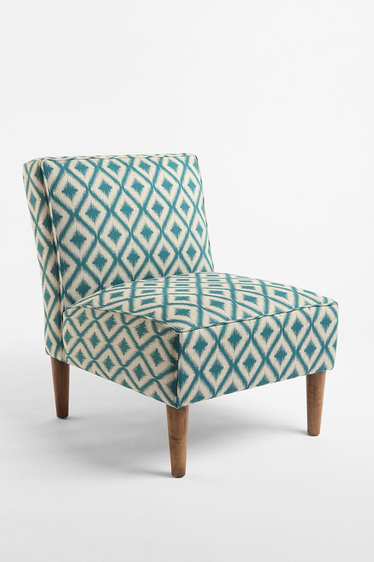 Turquoise ikat chair - Slipper Chair Woven Medi Ikat Urban Outfitters This Chair Matches The Throw