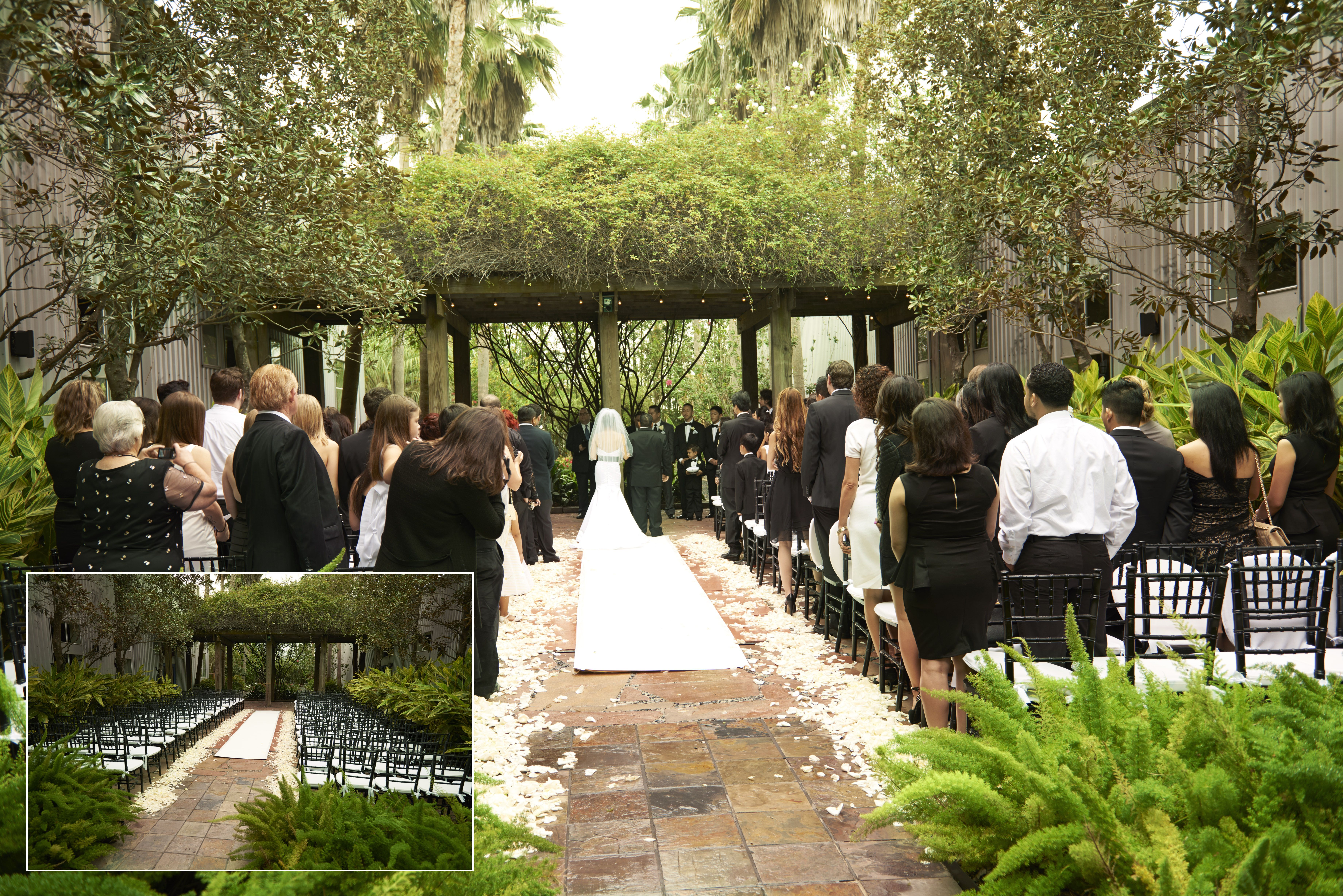 Wedding in our Court Yard Wedding Ceremony