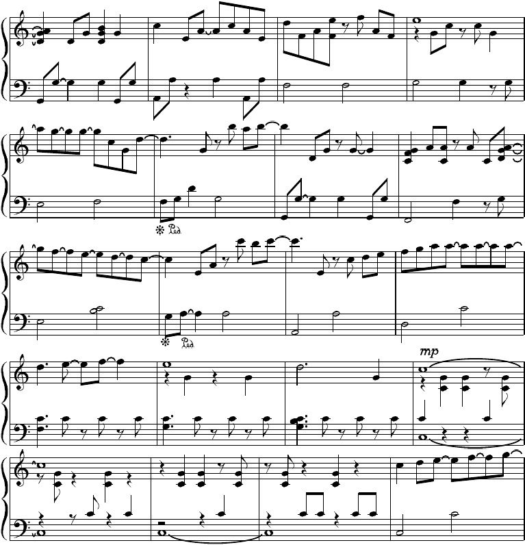 waterfall piano guys sheet music pdf