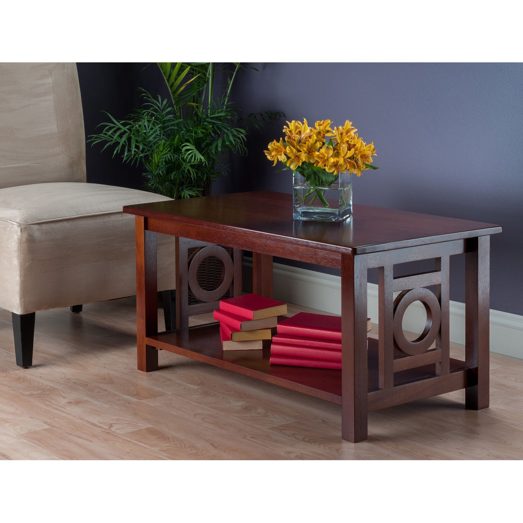 Winsome Ollie Walnut Finish Wood Coffee Table Brown