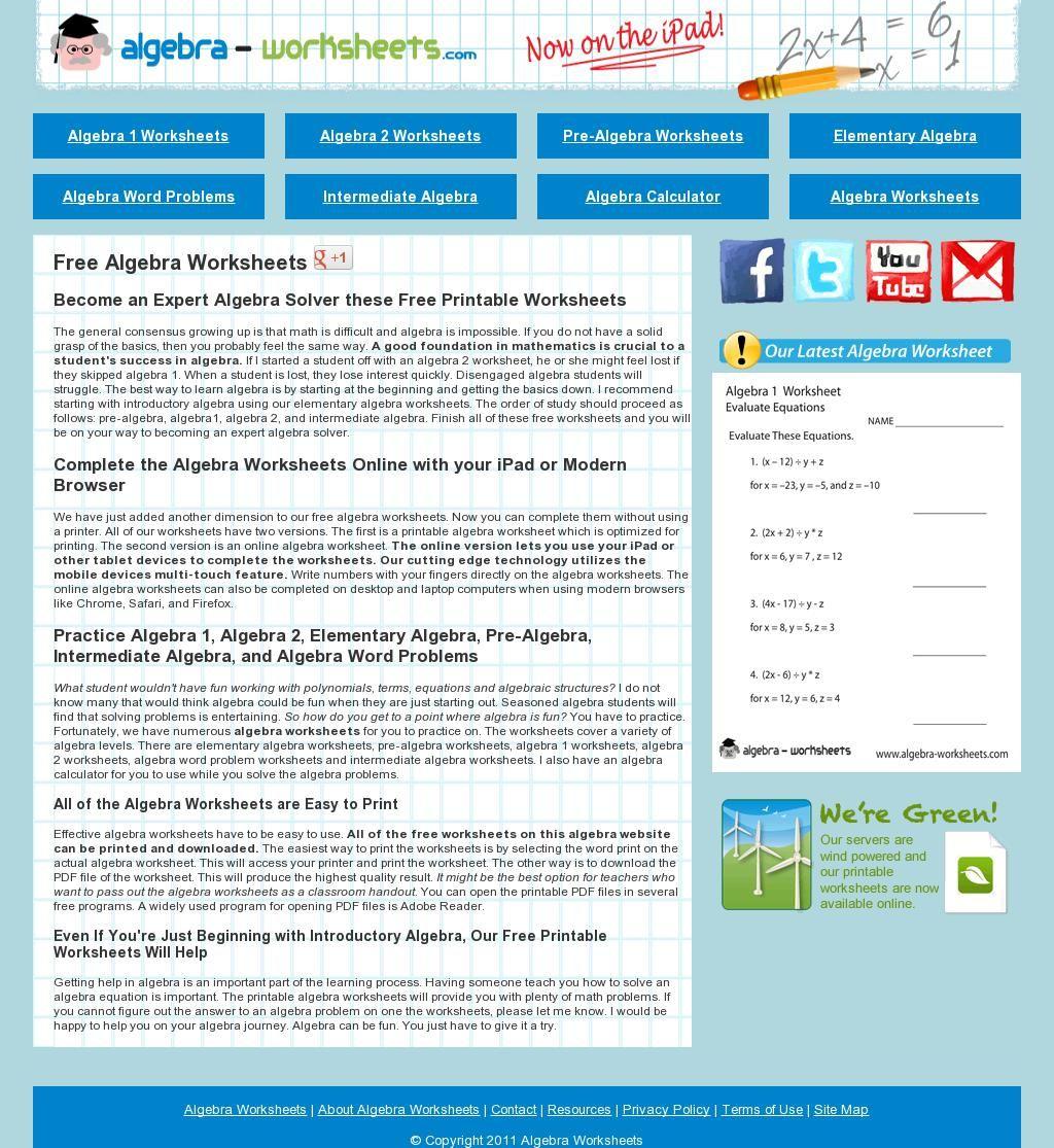 Free Algebra Worksheets Algebra Worksheets Free Algebra Math School [ 1115 x 1024 Pixel ]