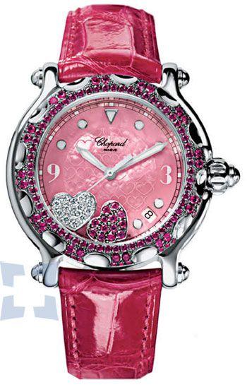 Chopard Happy Sport Ladies Watch  I'm NOT a pink girl but I love. Relojes  FemeninosReloj DamaEl ... 84537be32fa6
