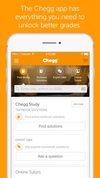 Chegg allows you to buy or rent eTextbooks  The app also