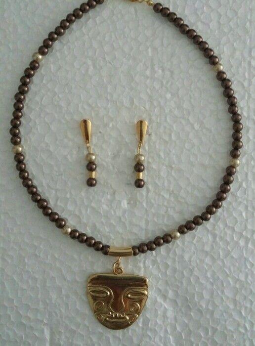 collar y aretas precolombinos $45.000 H