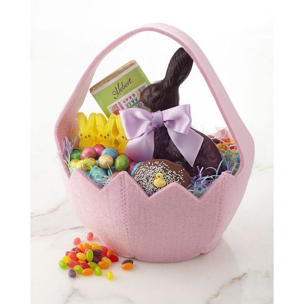 Horchow easter basket with treats 75 found on polyvore featuring the gift sections offers suggestions for hostess gifts valentines day ideas gifts for mothers or daughters who are mothers and our annual prime negle Images