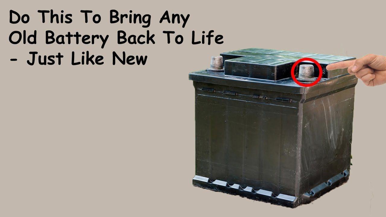 Car Battery Repair How To Restore A Dead Car Battery Dead Car Battery Battery Repair Car Battery