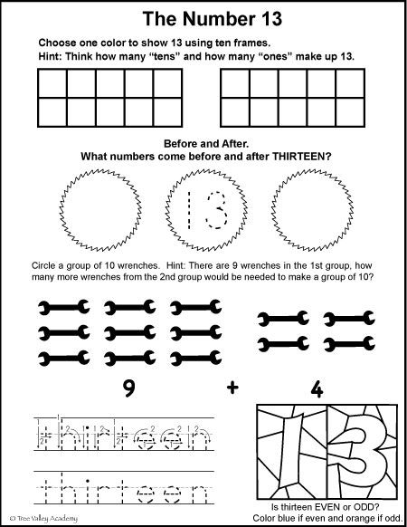 Number Bonds To 13 Free Math Worksheets Kindergarten Worksheets Kindergarten Math Worksheets Numbers Kindergarten