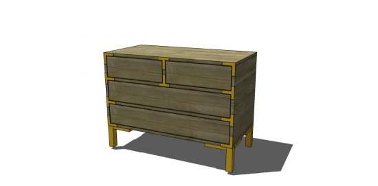 how to build a 4 drawer dresser
