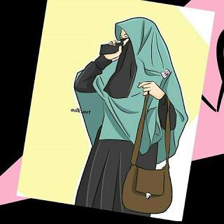 kumpulan anime kartun muslimah bercadar parft 3 (With