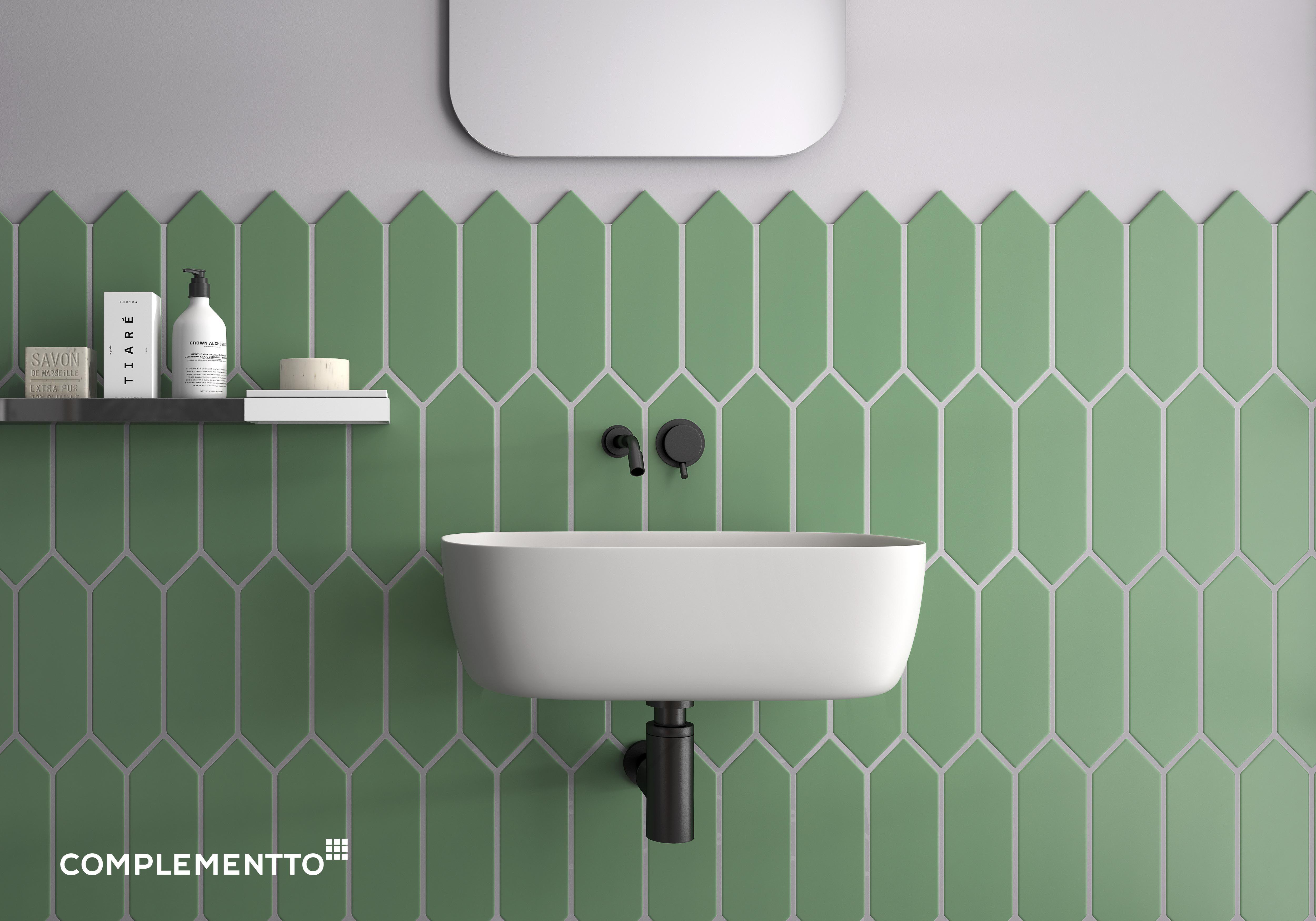 Color Crush Combina El Color De Los Azulejos Con El De Las Juntas Cuarto De Bano Verde Azulejos Decoracion Banos