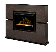 65 5 Dimplex Linwood Gray Glass Electric Fireplace With Images