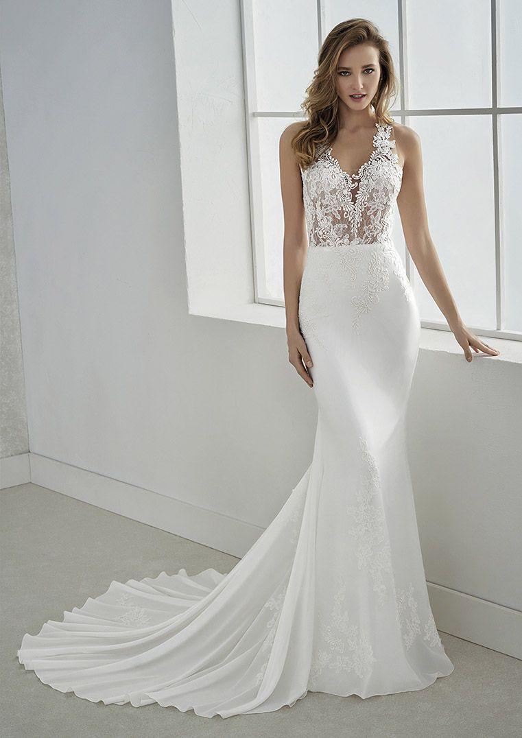 White One Bridal Pronovias Glass Slipper Formals Wedding Dresses Bridal Gowns Lake City Flori Sheer Wedding Dress Wedding Dress Chiffon Pronovias Wedding Dress [ 1076 x 761 Pixel ]