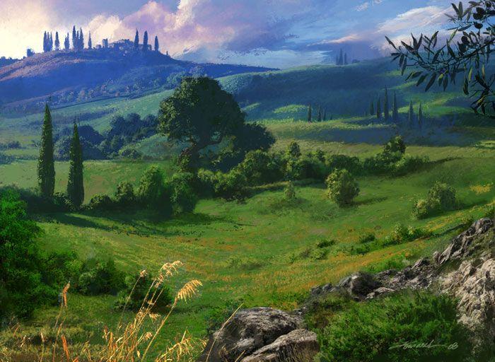 Fantasy Plains Landscape Art