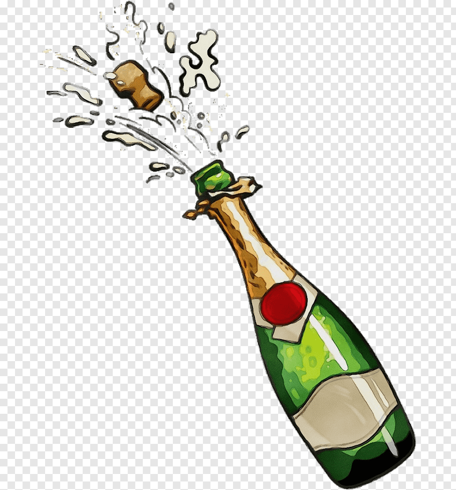 Champagne Bottle In 2021 Bottle Drawing Red Wine Drinks Wine Stickers