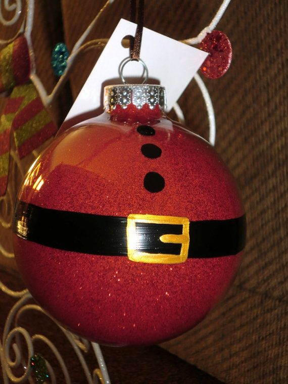 Items Similar To Santa Clause Hand Painted Glass Ornament On Etsy