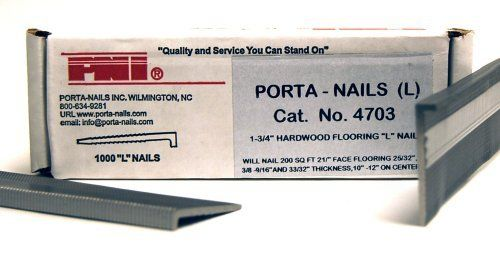 Porta Nails 4703 16 Gauge 1 3 4 Inch Flooring Nails 1 000 Per Box By Porta Nails 17 63 From The Manuf Pneumatic Nailers Nails And Screws Tongue And Groove