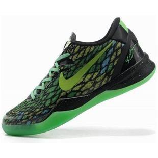 asneakers4u.com Nike Kobe 8 System Basketball Shoe Snake Green/Black2