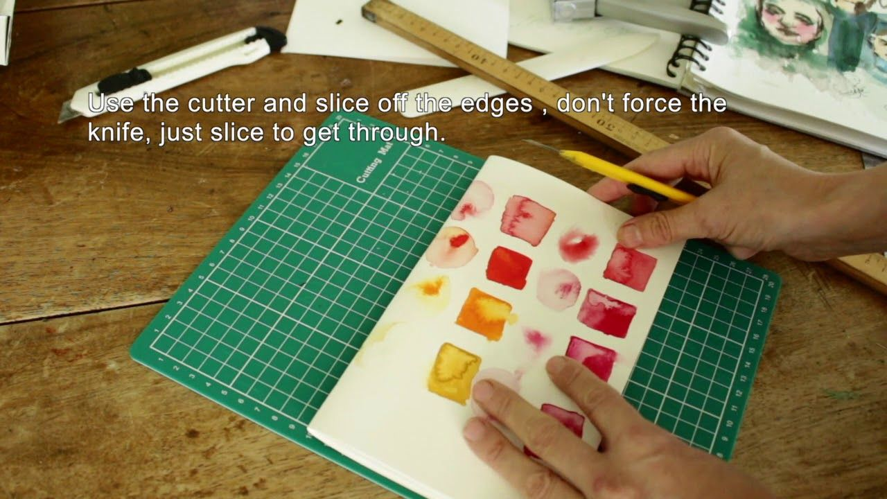 Make a proper sketchbook in just 5 minutes with staples
