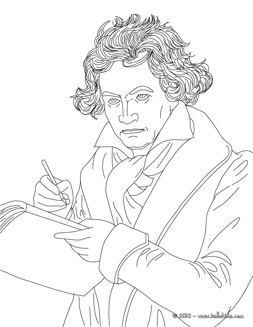 Ludwig Von Beethoven Famous German Composer Free Printable