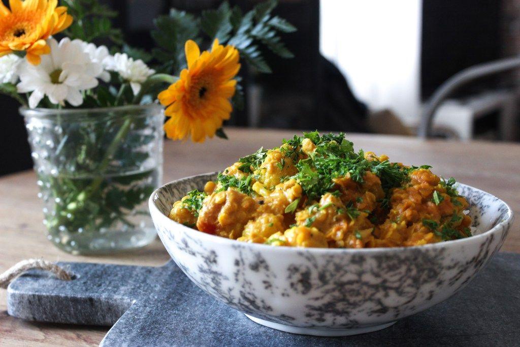 Curry De Chou Fleur Lait De Coco Et Lentilles Corail Naturally