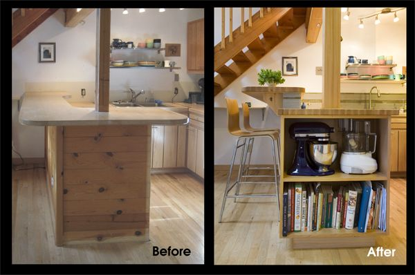 Kitchen Remodel Comparison 3 A New Under Counter Shelf Is Now Hosting Liances