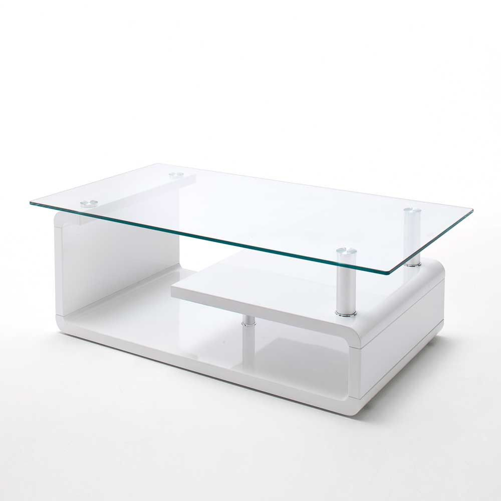 Tolle Couchtisch Glas Weiss Hochglanz Nice Collection Table