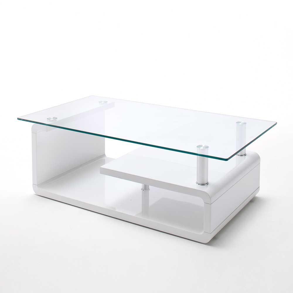 Schon Couchtisch Glas Weiss Hochglanz Coffee Table