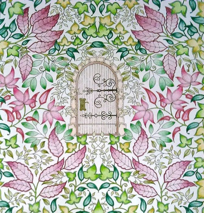 Johanna Basford Secret Garden Enchanted Forest Colouring In Adults
