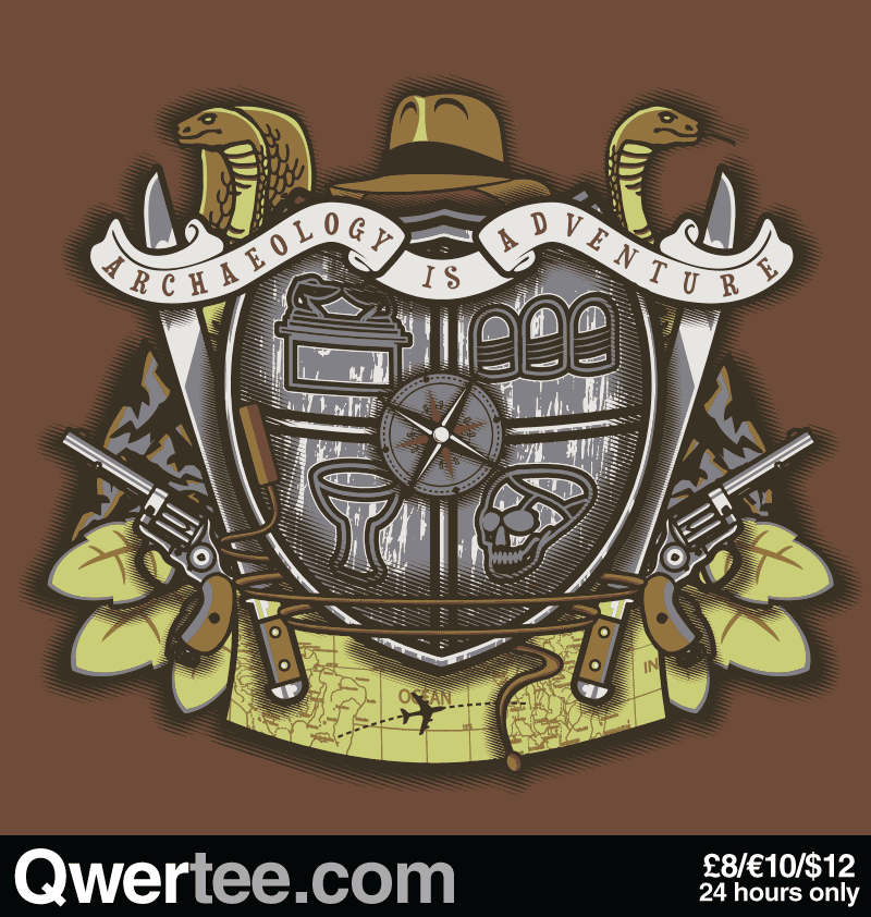 @Qwertee Adventurer's Crest  By Arinesart   T-shirt Only £8/€10/$12   Cool Graphic Funny Tee Shirts