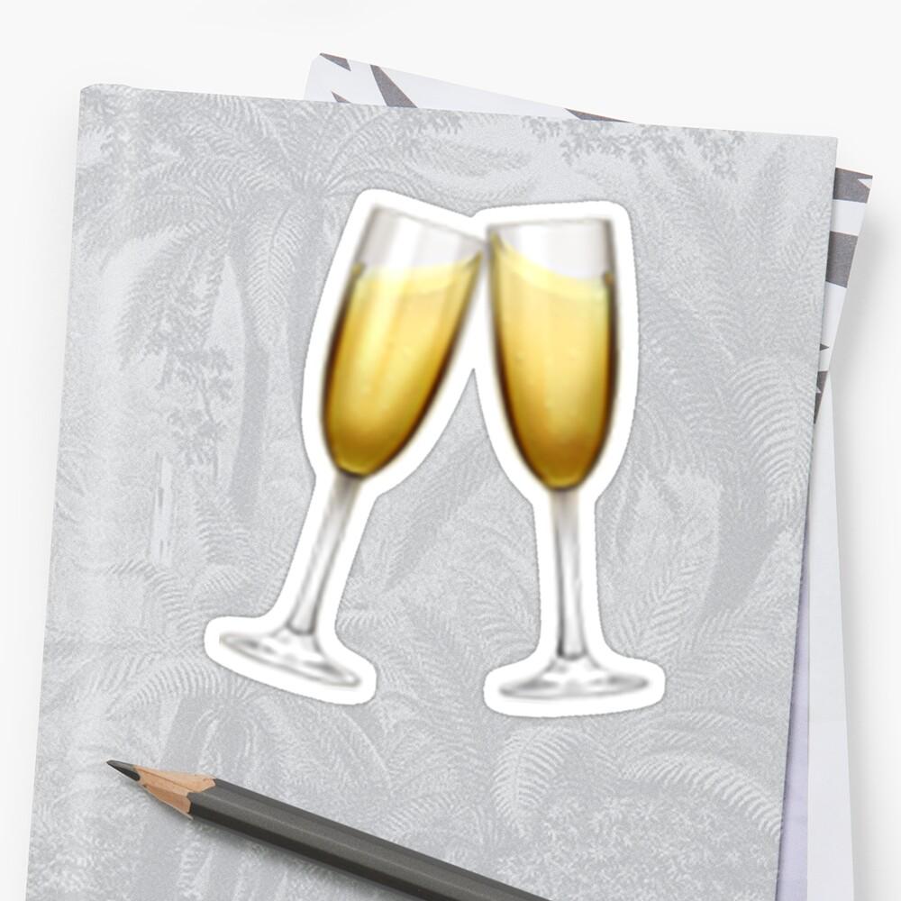 Champagne Emoji Sticker By Nerdychick Redbubble Emoji Stickers Emoji Champagne