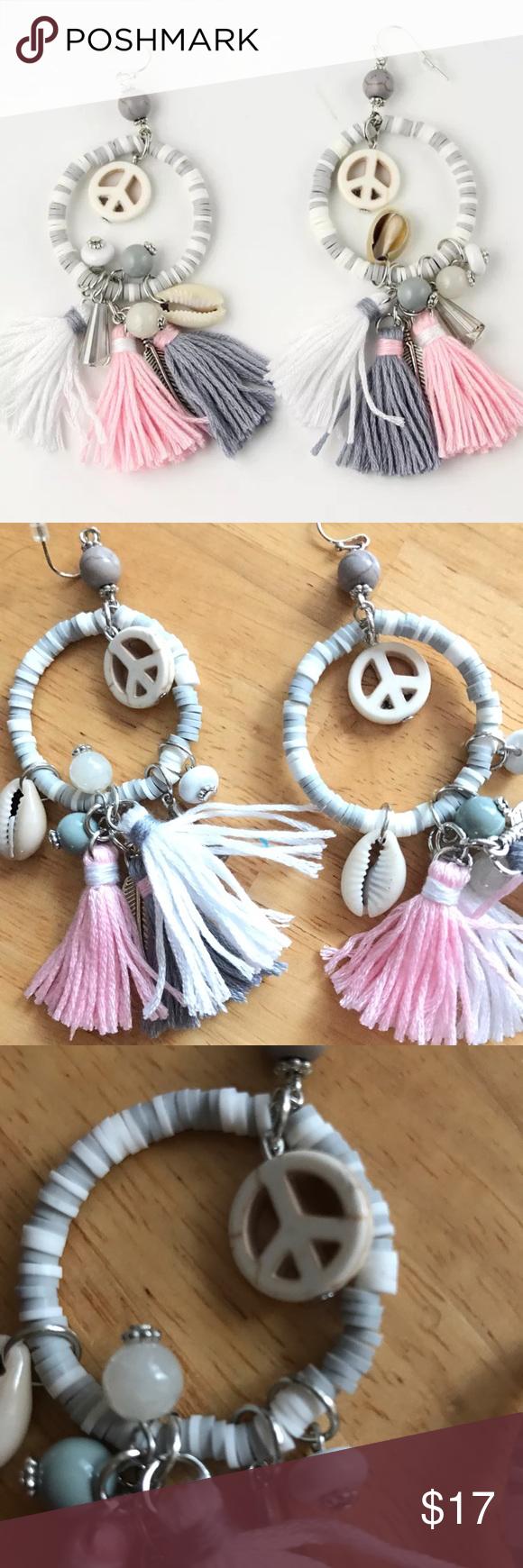 Download Bohemian Style Tassel Earrings Bohemian Style White pink ...