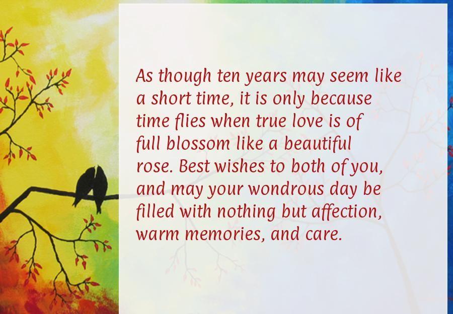 10 Year Anniversary Cards Wedding Anniversniversary Quoteshy
