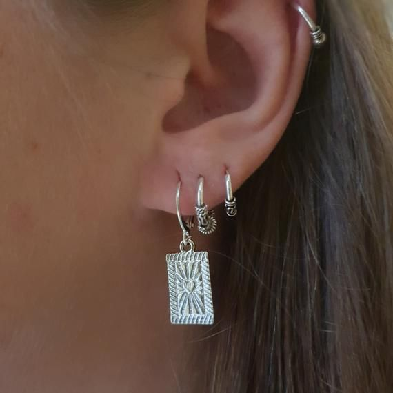 Photo of Gold or silver heart earrings