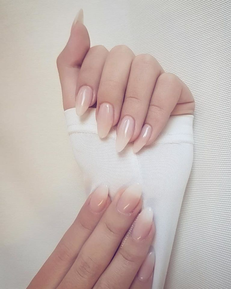 Ombre Tranclucent French Manicure Natural Nail Designs Pink Ombre Nails Squoval Nails