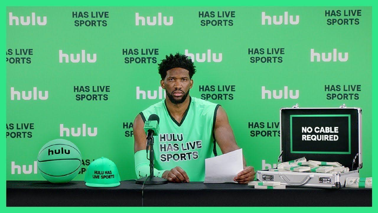 "Joel ""Hulu has live sports"" Embiid • Hulu • Commercial"
