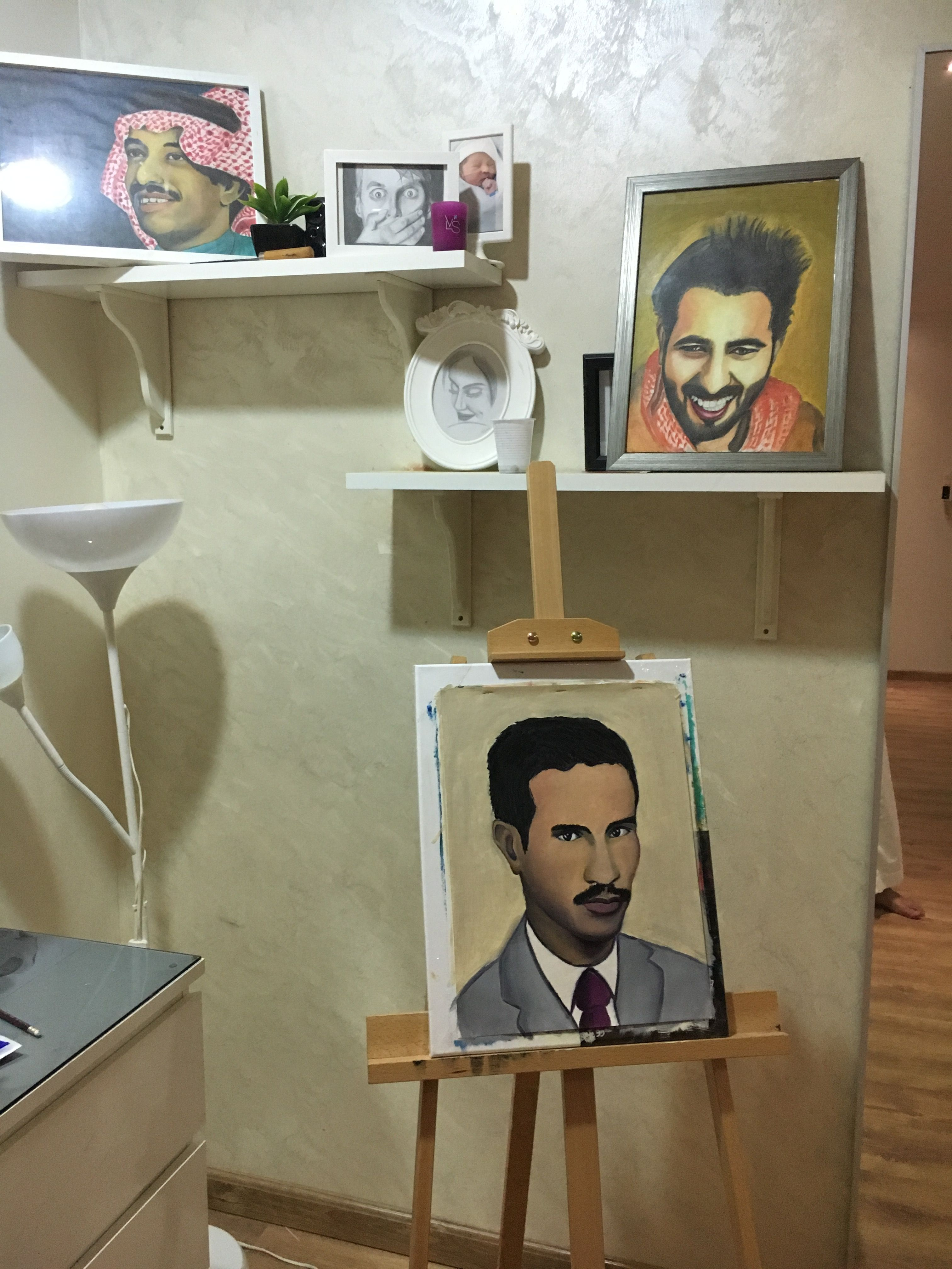 بشير حمد شنان لوحة زيتية Painting Art Oil Painting