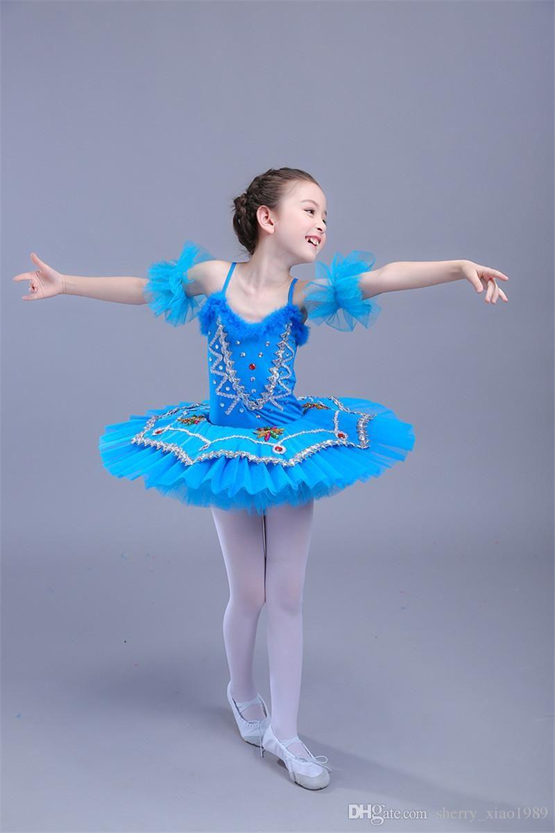 3ce2ade275c9 Professional White Swan Lake Ballet Tutu Costume Girls Children ...