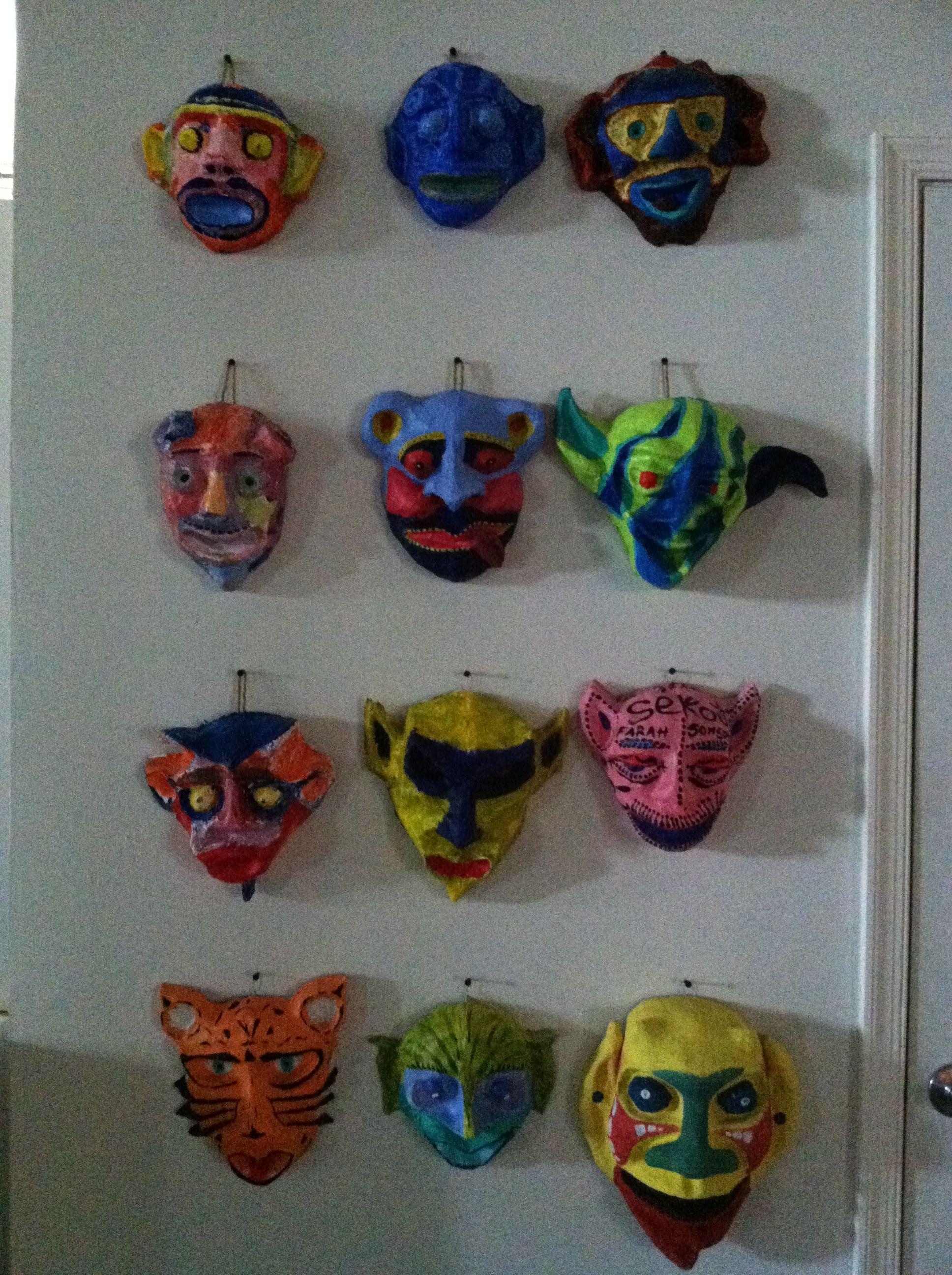 Haitian Paper Mache Masks