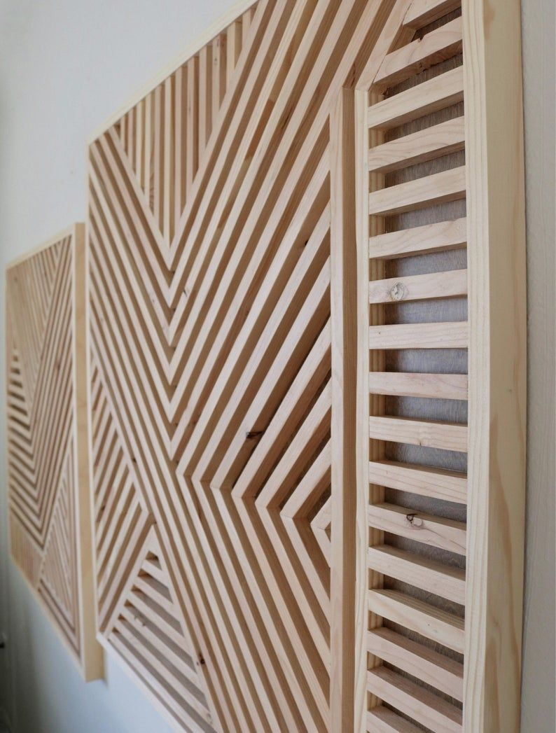 Wood Wall Art Geometric