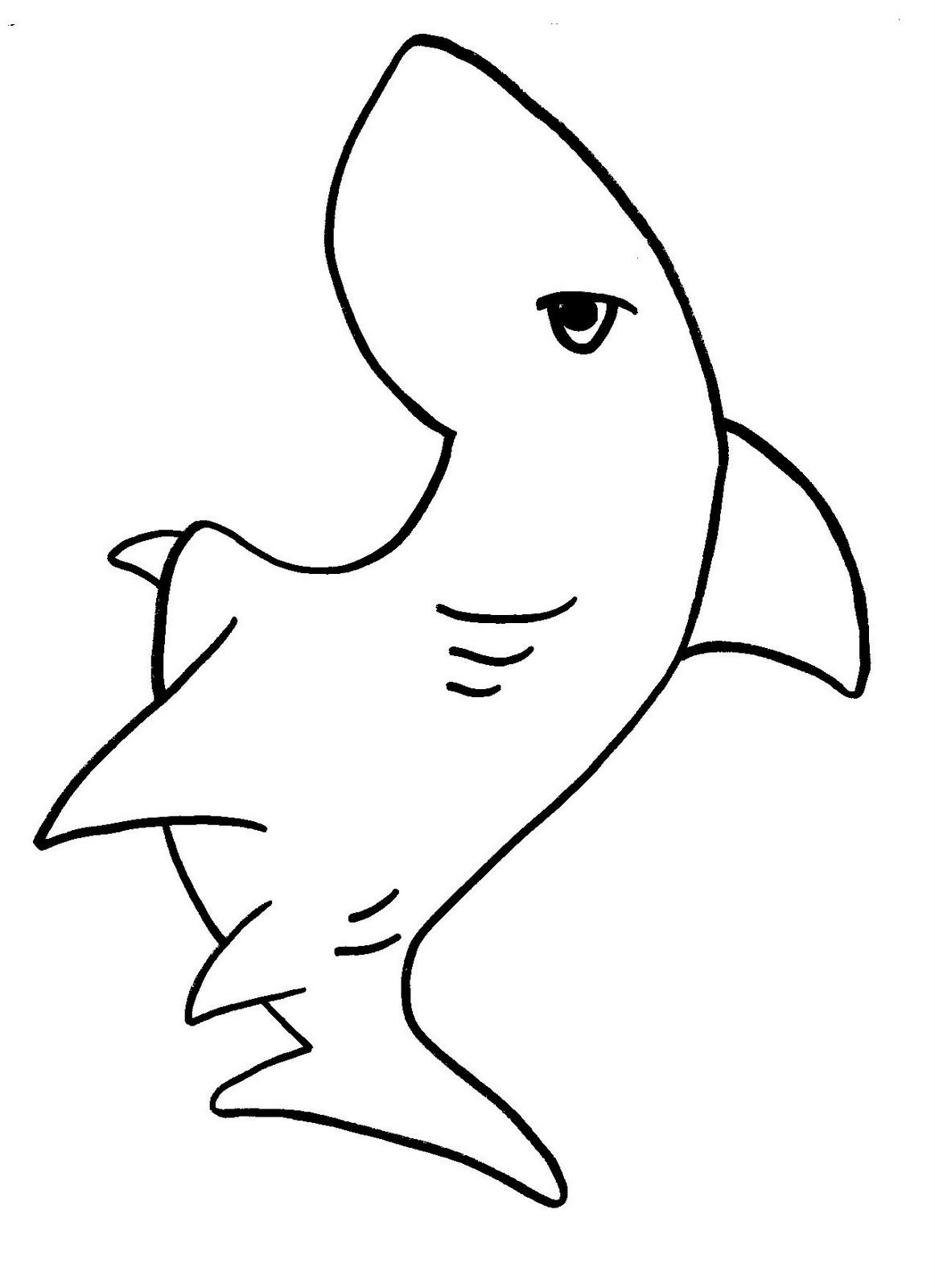 Brilliant Beginnings Preschool Shark Teeth Coloring Page