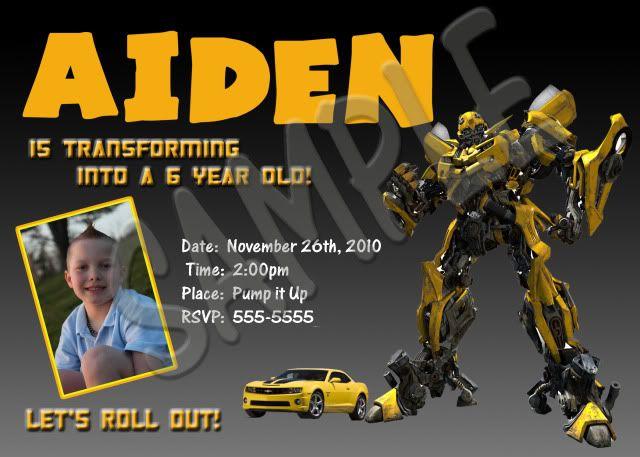Transformers Birthday Invitations Template Best Collection Transformer Birthday Birthday Invitations Invitation Template